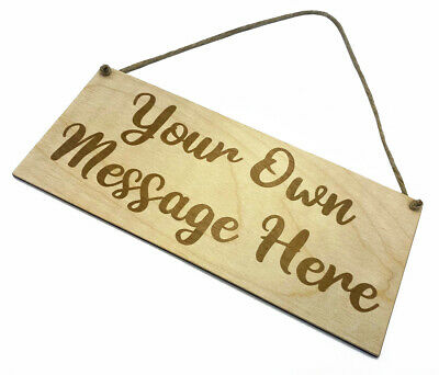 Personalised Wooden Sign Plaque Bespoke Made Customised Wall Door Hanging Gift  • 6.95£