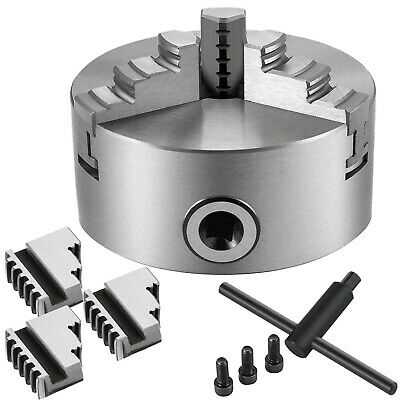 AU65.98 • Buy Lathe Chuck K11-100 100mm 3 Jaw Reversible Drilling  Cast Iron Two-Piece Jaws