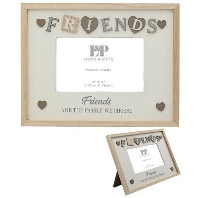 £10.95 • Buy FRIENDS Photograph Picture Photo Frame 4 X 6  Wooden Gift Friend Best