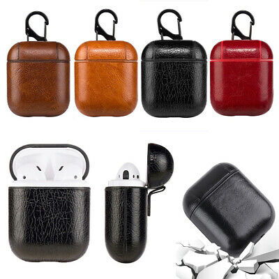 AU5.99 • Buy For Apple AirPods 1 2 Case Protective Genuine Leather Holder Bag Accessories NEW