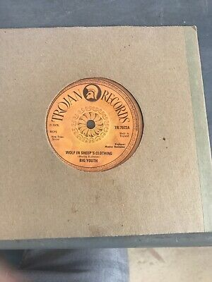 "Reggae Dub Roots 7"" 45 Trojan Records Vinyl Big Youth Wolf In Sheep's Clothing • 25£"