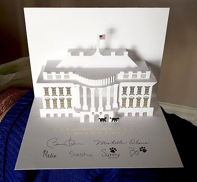 $39.95 • Buy 2013 Official Barack Obama White House Pop Up Christmas Card