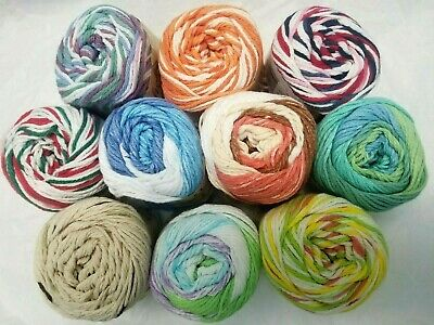 $13.22 • Buy 2-Skeins Peaches & Creme Cotton Yarn 2 Oz ( Choose MPN Color ) - Free Shipping -