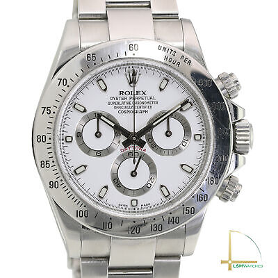 $ CDN28163.94 • Buy Rolex Daytona 116520 40mm SS Watch White Dial W/ Box And Cert UNPOLISHED