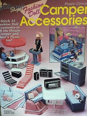 $ CDN9.99 • Buy Vintage 1992 Dream Camper Accessories Plastic Canvas Pattern For Barbie Doll