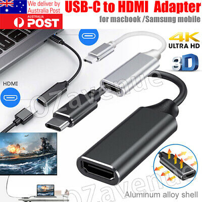 AU8.89 • Buy Type C USB-C 3.1 To HDMI Adapter Cable Converter For MacBook ChromeBook Samsung