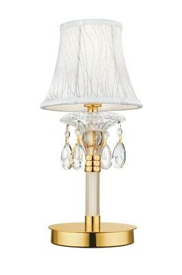 Lumetto Bedside Lamp Glass And Crystal With Lampshade Fa I-MONET-L • 115.96£