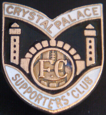 £10 • Buy CRYSTAL PALACE FC Vintage SUPPORTERS CLUB Badge Brooch Pin In Gilt 21mm X 23mm