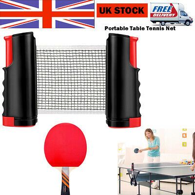 Portable Table Tennis Net And Post Set With Mini Posts Bats Balls Extendable UK • 11.44£