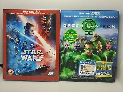 AU64.47 • Buy Star Wars Rise Of Skywalker 3D NEW +Green Lantern 3D Like-New LENTICULAR SLIP