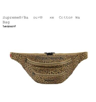 £159.99 • Buy Supreme/Barbour Waxed Cotton Waist Bag - Leopard Print Style - Brand New SS20