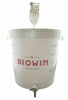 30 LITRE FERMENTATION BUCKET VESSEL WITH TAP + AIRLOCK HOME BREW Wine Cider Beer • 25.95£