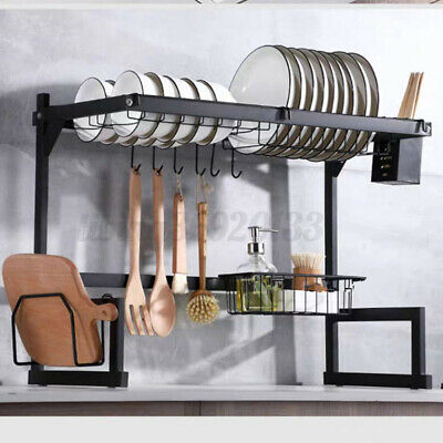 AU84.99 • Buy Dish Drying Rack Organizer 2 Tier Kitchen Draining Over Sink Stainless Steel AU