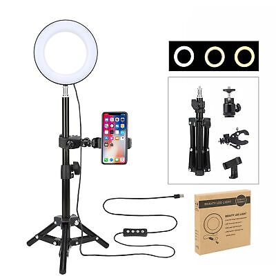 AU36.99 • Buy ZOMEI 6  Selfie Ring Light With Tripod Stand & Cell Phone Holder For Live Stream