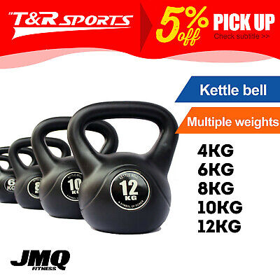 AU50.99 • Buy JMQ 4-12KG Kettlebell Kettle Bell Weight Exercise Home Gym Workout