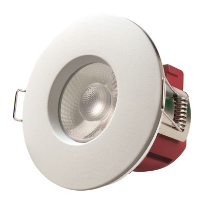 £12 • Buy Fire Rated LED Dimmable Downlight Recessed Ceiling Spotlights IP65 White Chrome