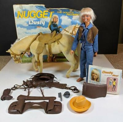 $29.99 • Buy Vintage Kenner NUGGET HORSE  & DUSTY DOLL Golden Palomino