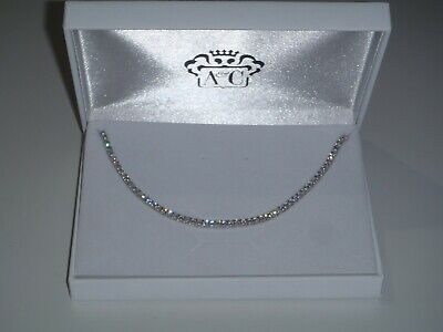 AU189.95 • Buy TENNIS NECKLACE, SILVER & CUBIC ZIRCONIA, 16  (40cm) NEW IN BOX, UNWANTED GIFT