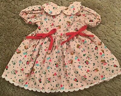 $20 • Buy Corolle S.A. 14.5  Toddler Doll Dusty Pink Dress With Red Ties NWOT
