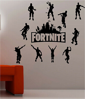Fort Decals Nite PS4 Xbox Wall Stickers Silhouette Characters Vinyl Wall Art F2 • 11.99£