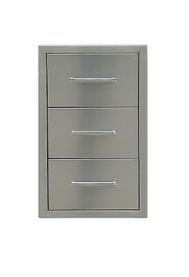 $256 • Buy Triple Drawer Outdoor Kitchen Bbq 304 Stainless Steel Access  Best Quality
