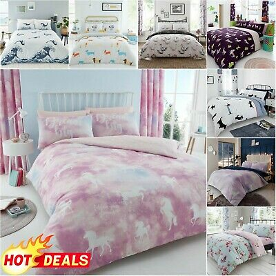 ASTRO CAT DUVET COVER Printed Bedding Set Reversible Quilt Easy Care • 8.38£