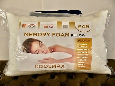 COOL MAX Memory Foam Pillows X 2 - Priced Reduced By 50% • 18£