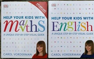 New Help Your Kids Books English & Math By Carol Vorderman • 16£