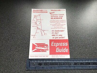 Western Scottish Bus Group National Express Bus Service Timetable June 1981 • 10£