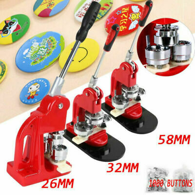 £74.15 • Buy 25/32mm Badge Maker Machine Making Pin Button Badge Press+Cicle Cutter+1000Parts