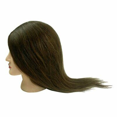 $16.99 • Buy HOT 18 /22  Long Real Hair Hairdressing Training Practice Mannequin Head A55D US