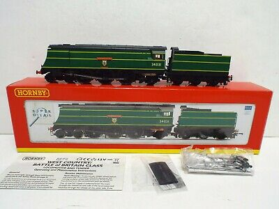 Hornby R2691 West Country Class 34031 Torrington Dcc Ready Boxed (oo1229) • 129.99£