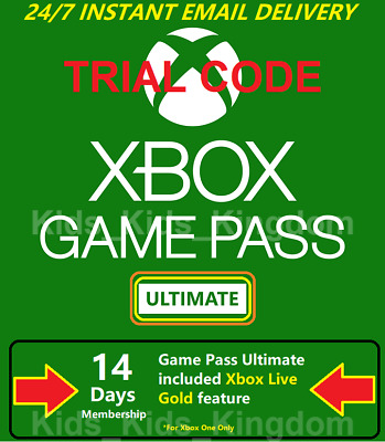 $1.41 • Buy Xbox Game Pass Ultimate - 14 Day Tiral Code Xbox Live Gold + Game Pass Instant