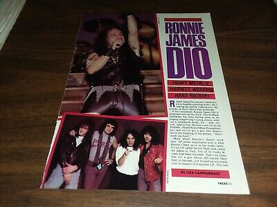$1.75 • Buy Ronnie James Dio 3 Page 1985 Faces Magazine Article Clipping