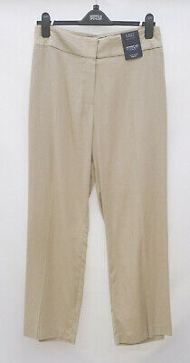 £14.99 • Buy M&S Collection Size 20S Linen Blend Straight Leg Trousers Bnwt Stone 28 L