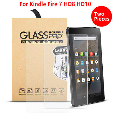 £4.29 • Buy 2PC Tempered Glass Film Screen Protector Amazon Kindle FIRE HD 8 Plus 2020 7 10