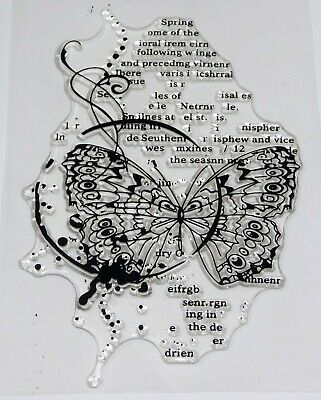 £4.99 • Buy Butterfly Script Mixed Media Clear Stamps  – BNIP – FREE P & P