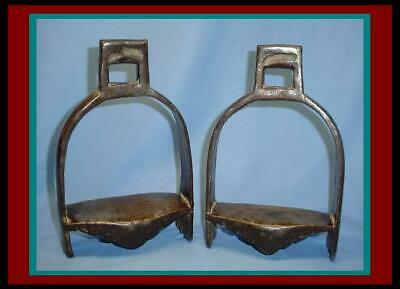 $250 • Buy Rare & Heavy ANTIQUE INDO-PERSIAN / ARABIAN CAVALRY Saddle STIRRUPS / Not Sword