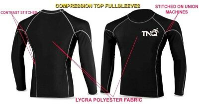 Compression Base Layer Body Armour Long Sleeve Men's Gym T-Shirt Sports Top TNQ • 8.99£