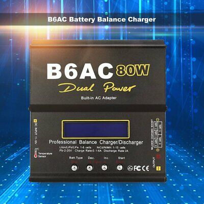 AU48.58 • Buy B6AC 80W AC/DC Lipo LiFe NiMh Battery Balance Charger Discharger For RC Model GN
