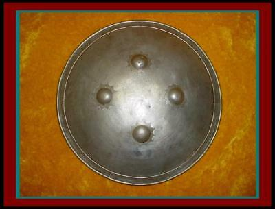 $445 • Buy Nice AUTHENTIC ANTIQUE INDO PERSIAN WAR Battle SHIELD Armor With SILVER KOFTGARI
