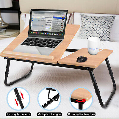 AU35.99 • Buy Laptop Stand Desk Foldable Lap Bed Table Tray Sofa Computer Portable Adjustable