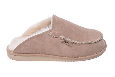 100% Natural Sheepskin Slippers With Sheep Wool Lining Size 3 4 5 6 7 8 9 10 11 • 22.50£