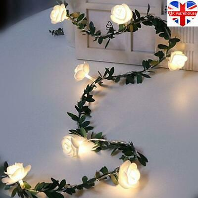 10/20/40leds Rose Flower Led Fairy String Lights Battery Powered Garland Decor • 4.79£