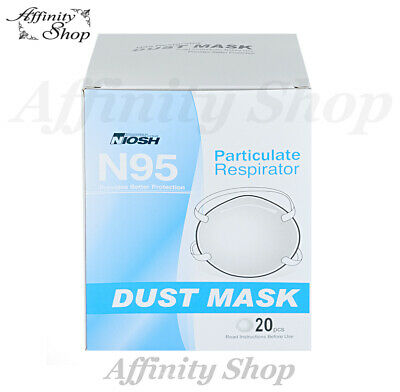 AU179.50 • Buy Niosh N-95 Breathing Protection Box Of 20 Face Masks Brand New!