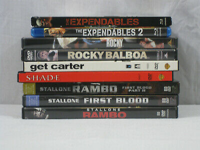 Sylvester Stallone 9 Movie DVD/Blu-Ray Lot First Blood, Get Carter, Shade.. VG • 17.02£