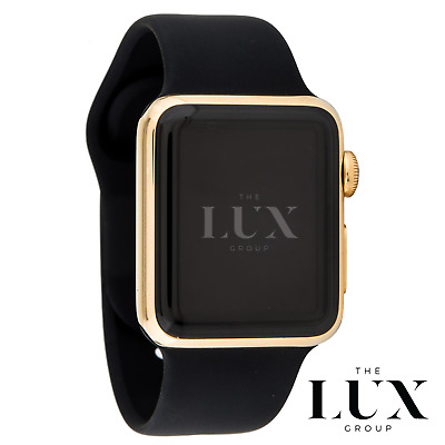 $ CDN1257.59 • Buy 24k Gold Plated Apple Watch Series 4 44mm With Black Sport Band 24K Gold Pin