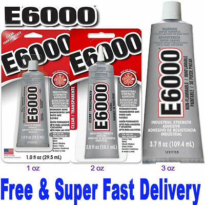 Original E6000  110ml  29ml  9ml Glue Multi-Purpose Industrial Strength-0FREE UK • 3.39£