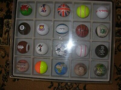 Golf Ball Display Some Rare In Wall Hanger • 29.90£