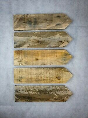 5 X Hand Made Rustic Wooden Direction Arrow Sign Posts, Wedding / Party Signs • 10£